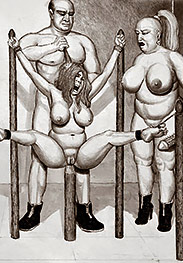 Clearly your cunt is too hungry for cock - Prison camp by Badia