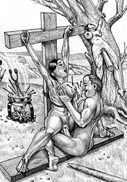 Roman crucifixions - I'm going to ram my hard cock in your fuck-hole by Marcus