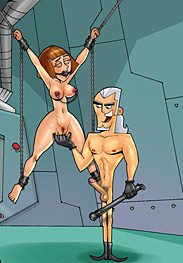 Danny Phantom bdsm - Maddie Fenton used like a sex doll by Toon BDSM